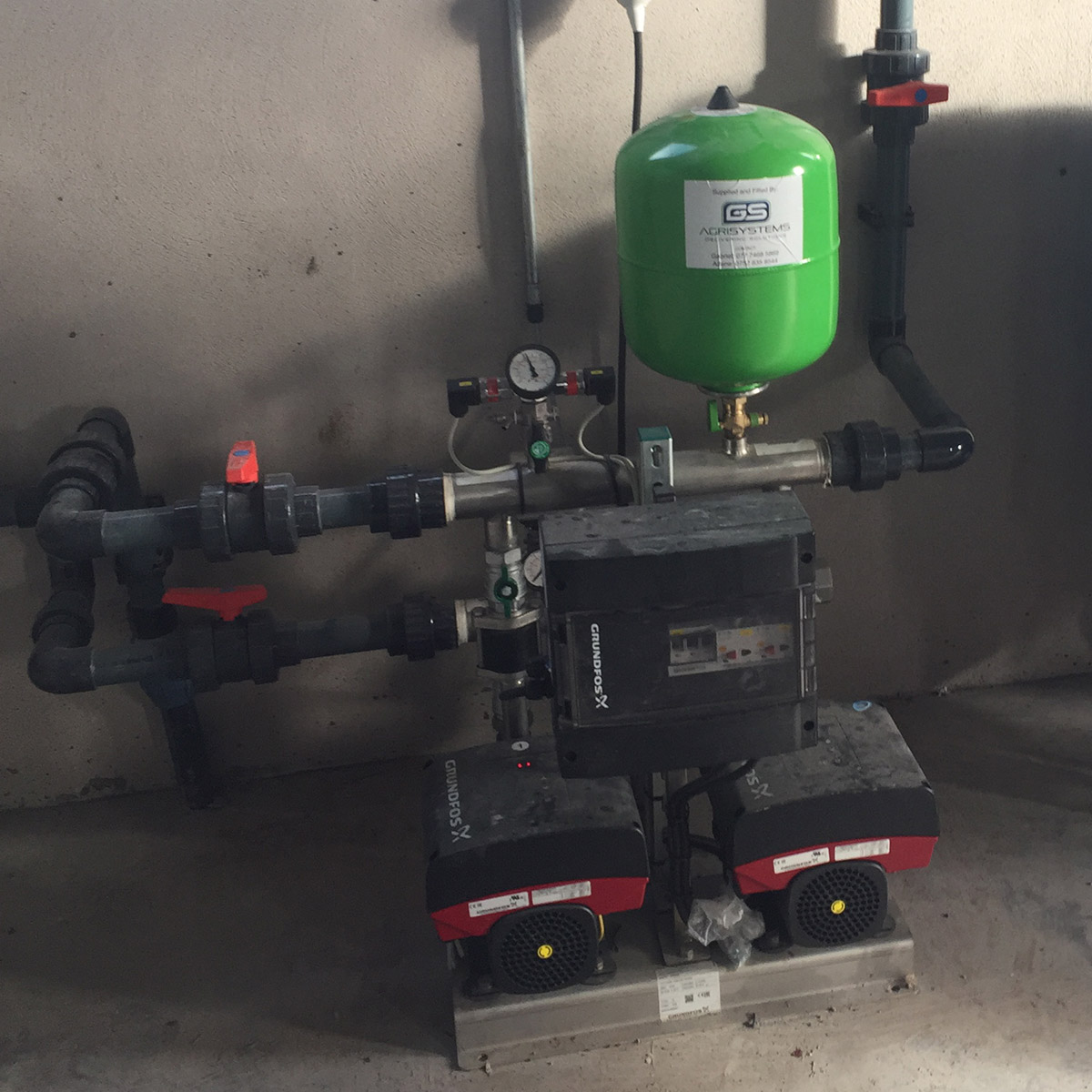 Grundfos booster pumps