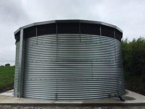 Exrernal water storage tank