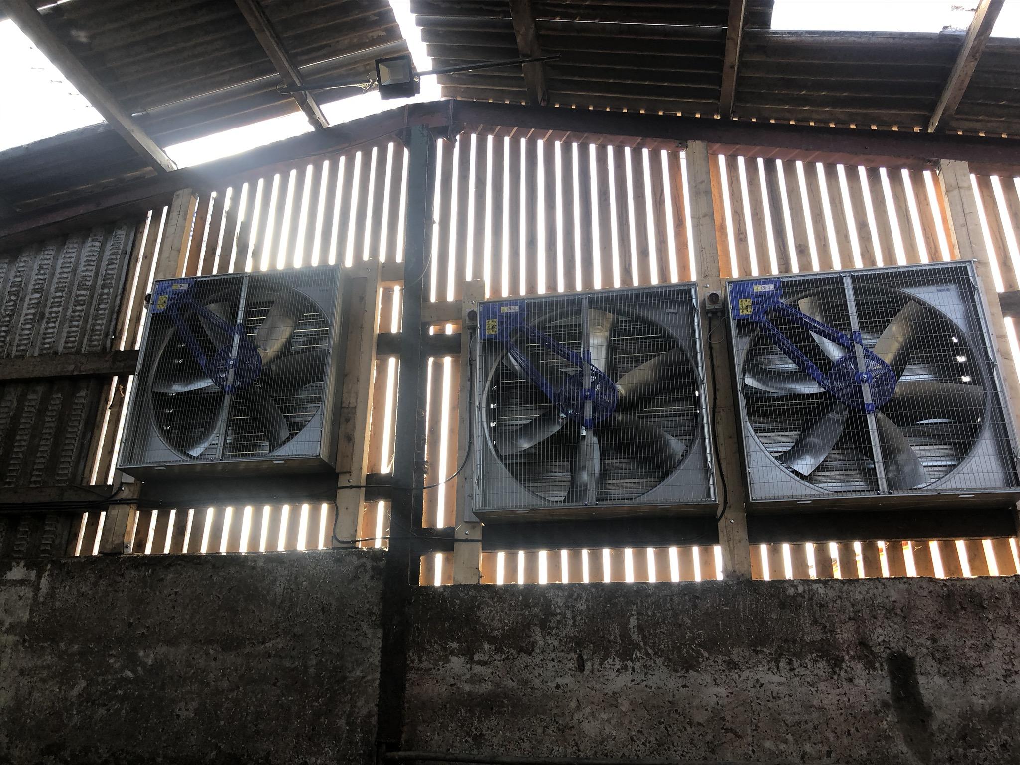 3 ventilation fans